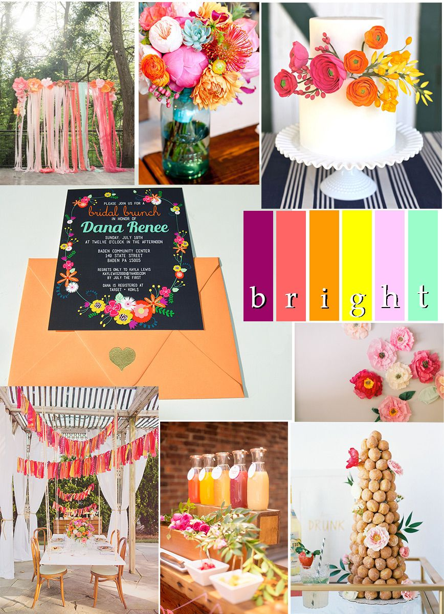 bright folksy floral shower